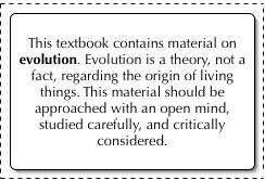 Cobb County textbook evolution disclaimer