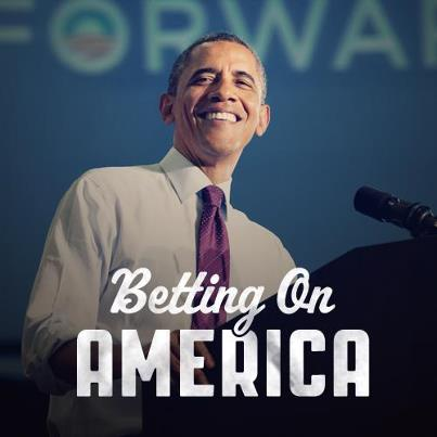 Obama campaign image: Betting On America